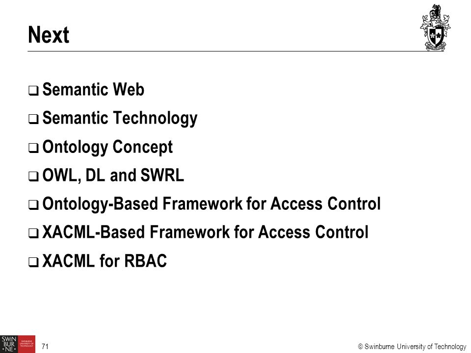 Next Semantic Web Semantic Technology Ontology Concept