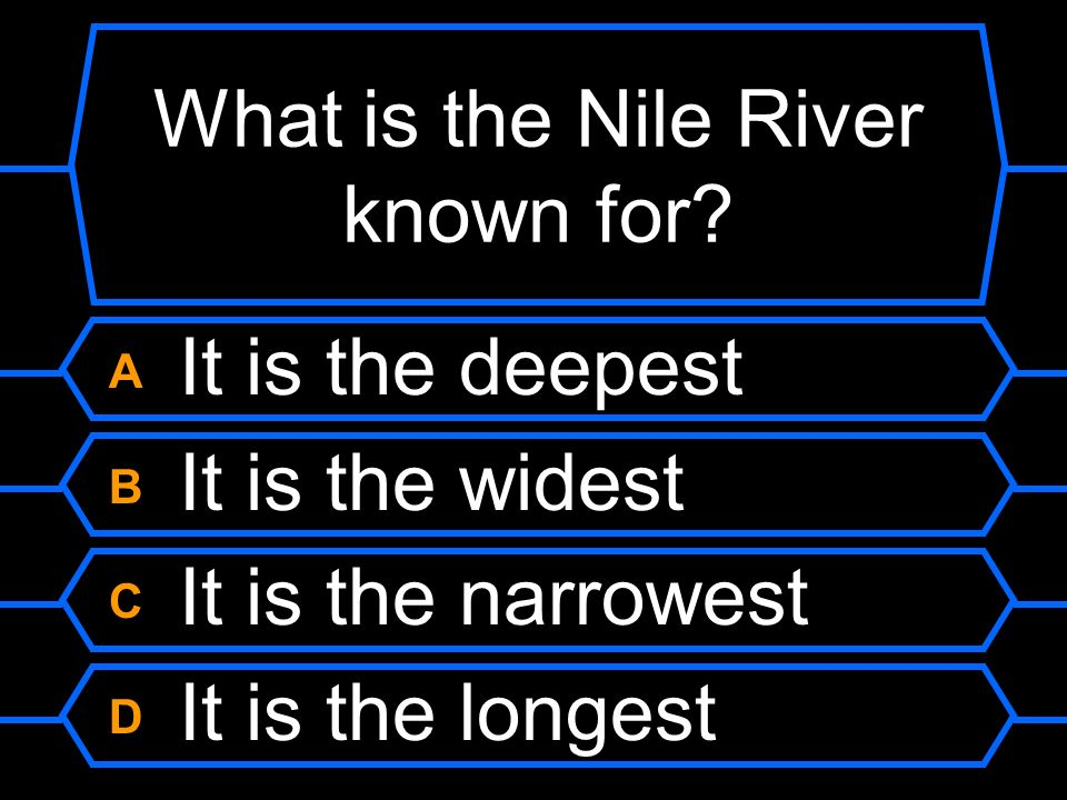 What is the Nile River known for