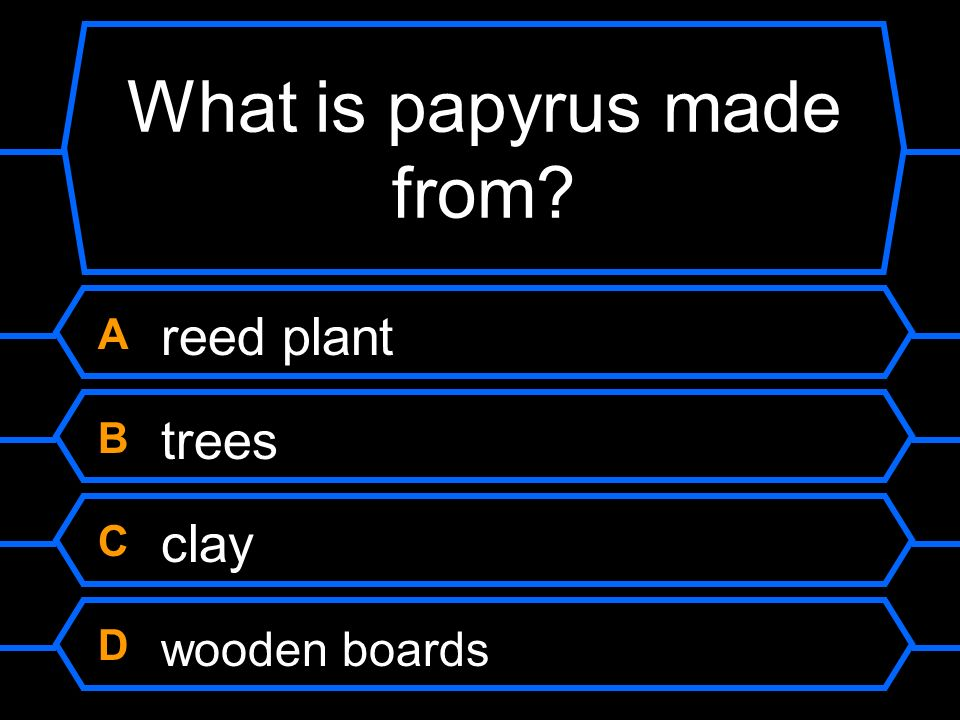 What is papyrus made from