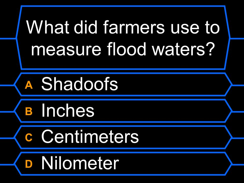 What did farmers use to measure flood waters