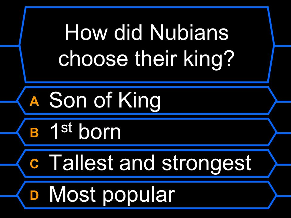 How did Nubians choose their king