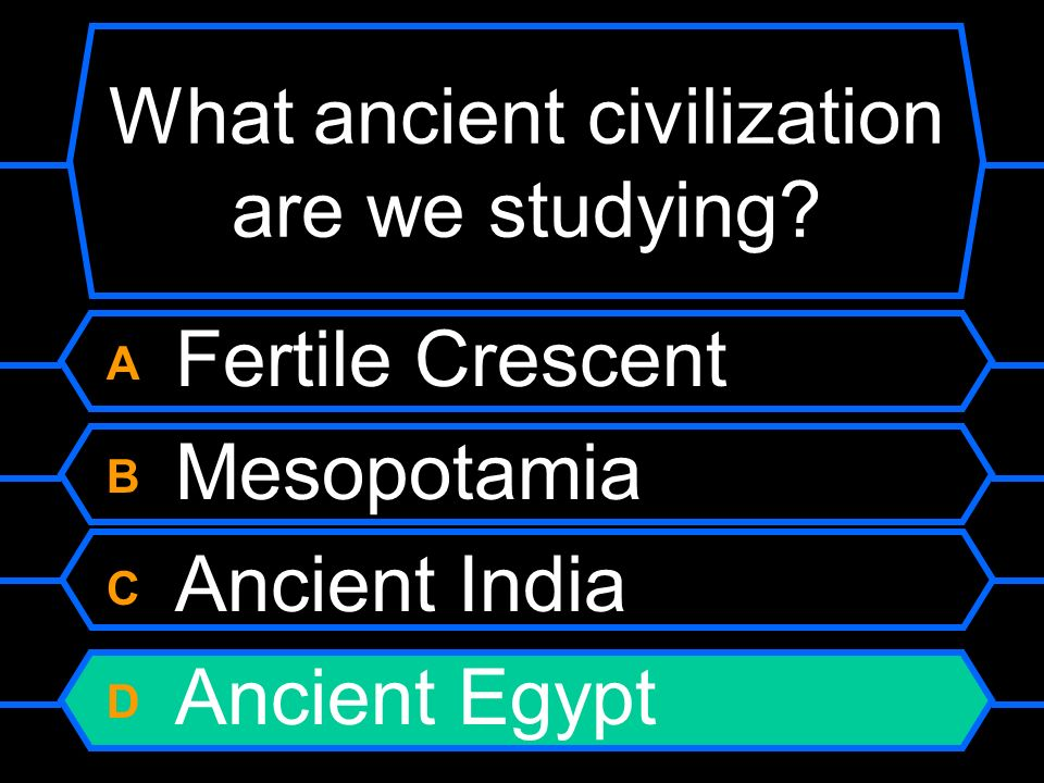 What ancient civilization are we studying
