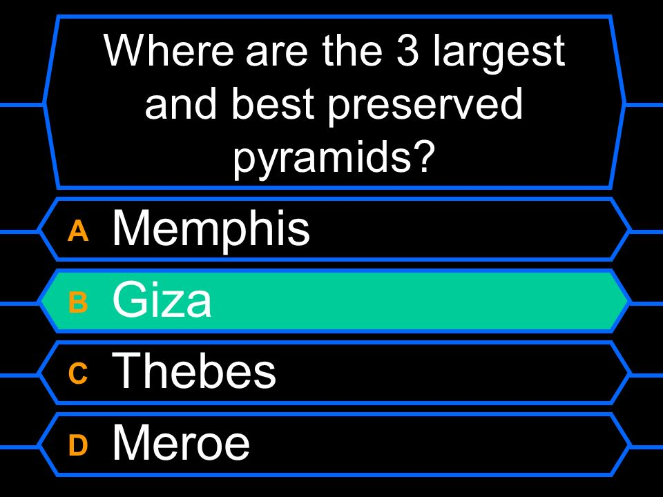 Where are the 3 largest and best preserved pyramids