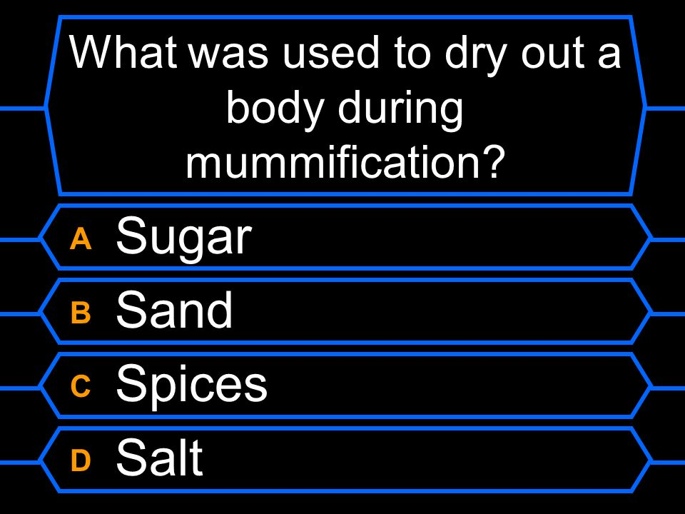 What was used to dry out a body during mummification