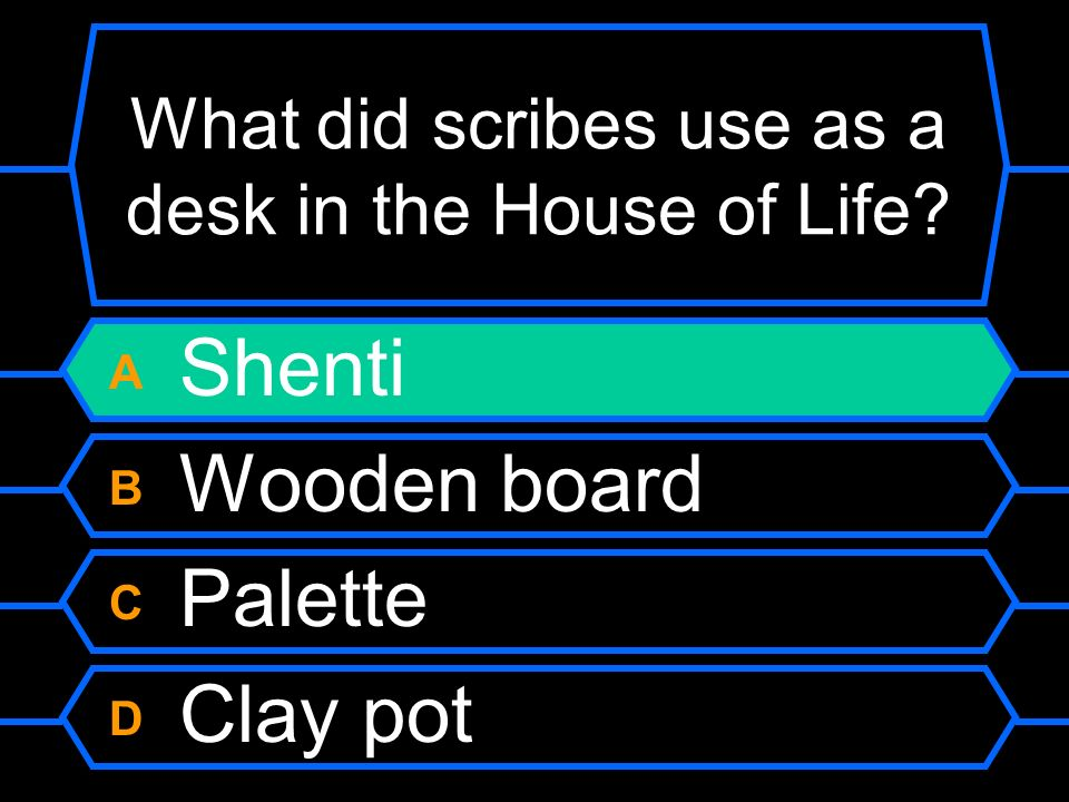 What did scribes use as a desk in the House of Life