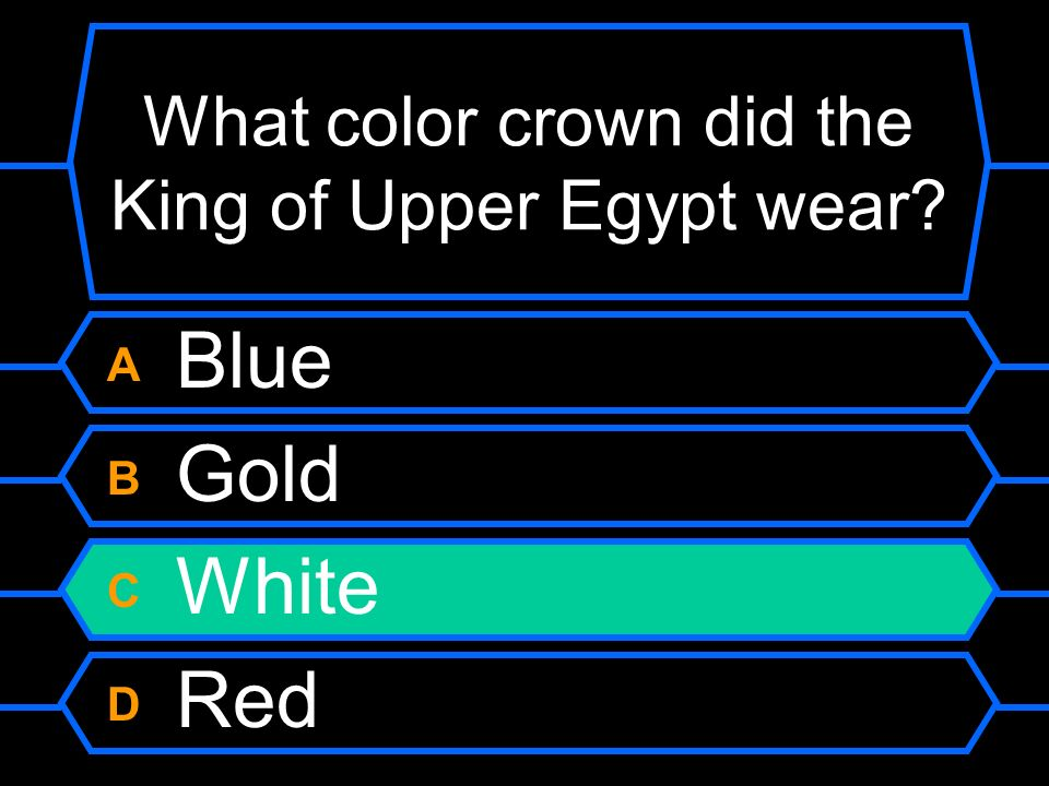 What color crown did the King of Upper Egypt wear