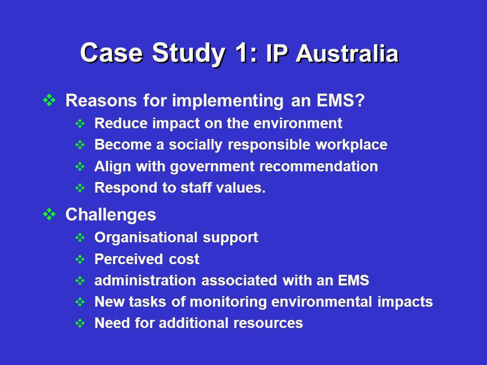 Case Study 1: IP Australia