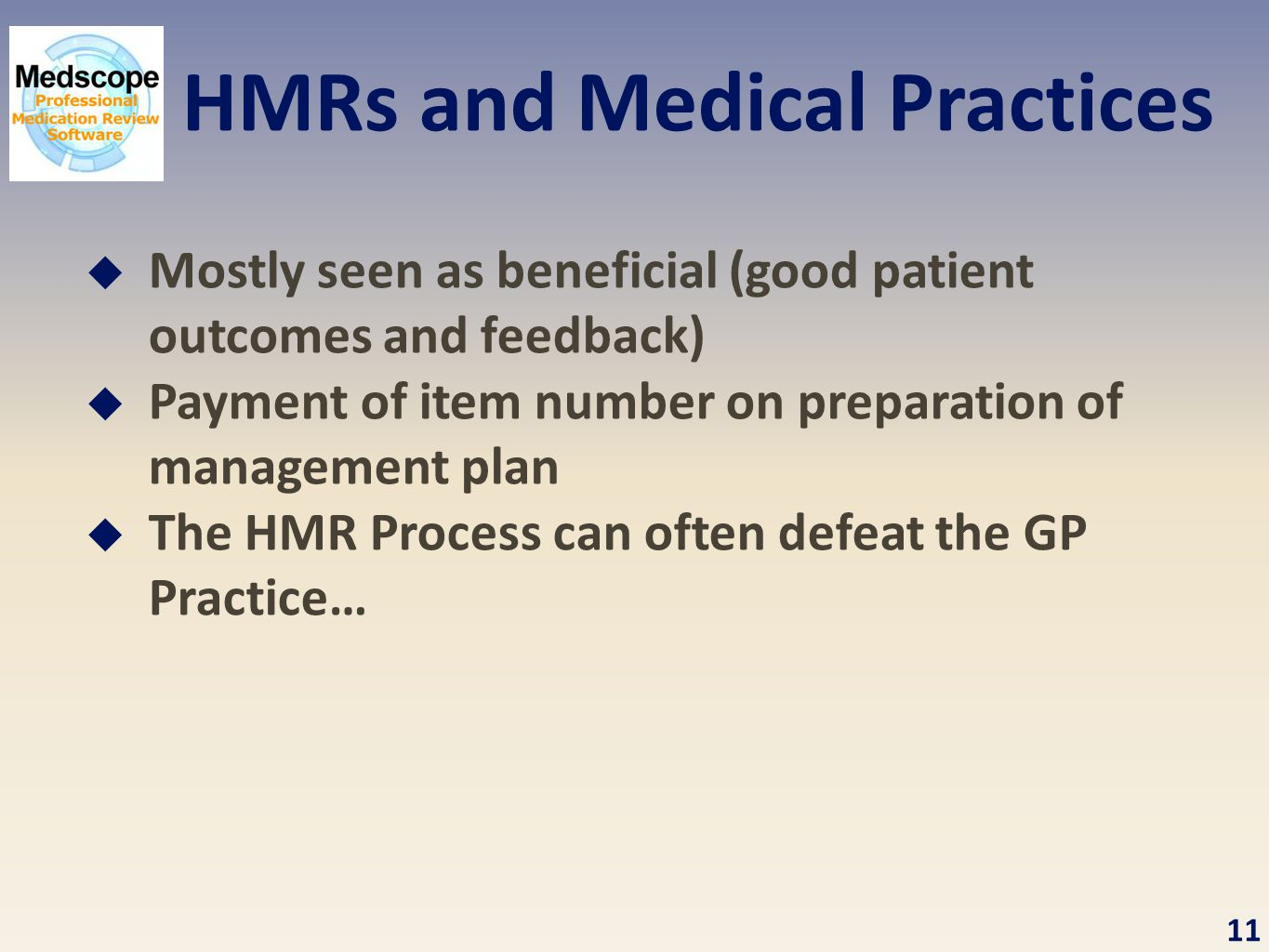 HMRs and Medical Practices