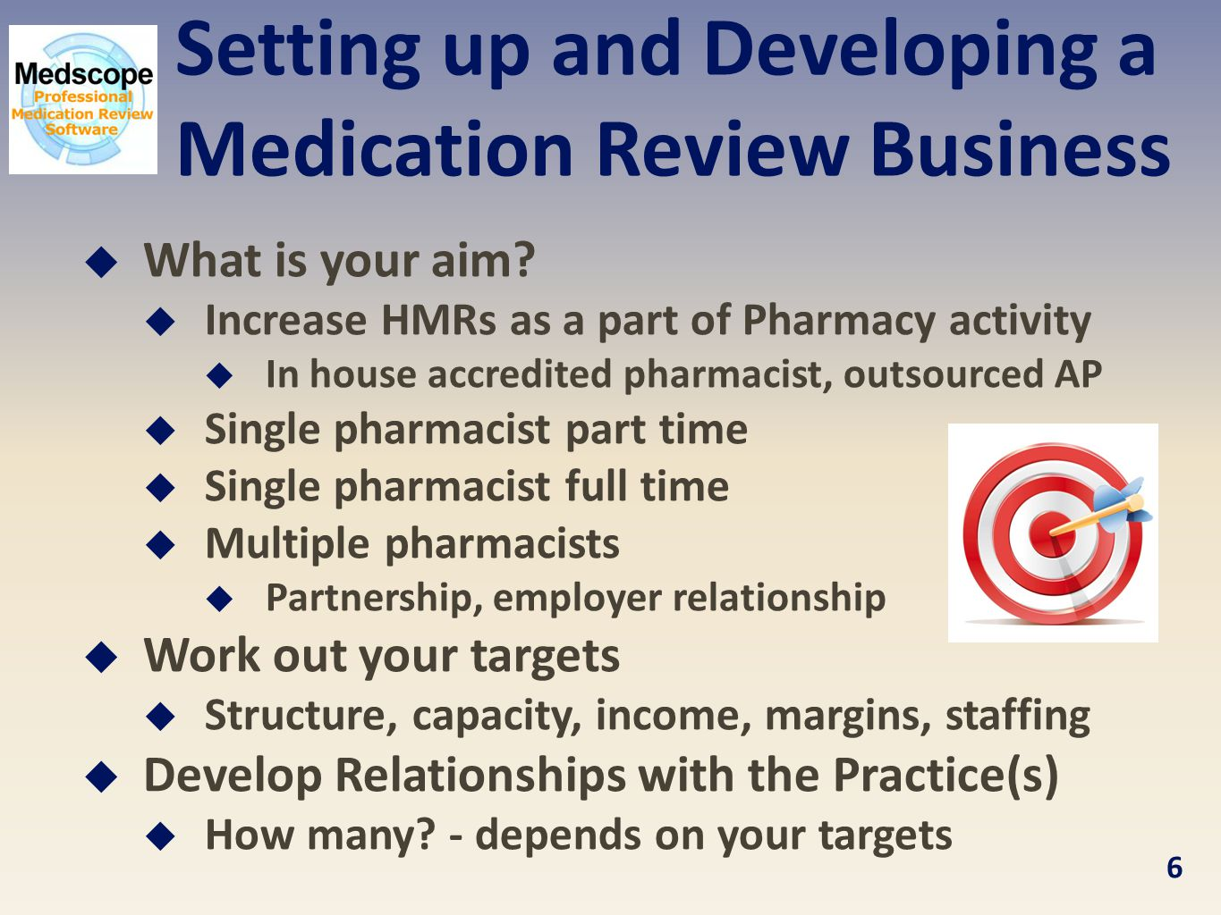 Setting up and Developing a Medication Review Business