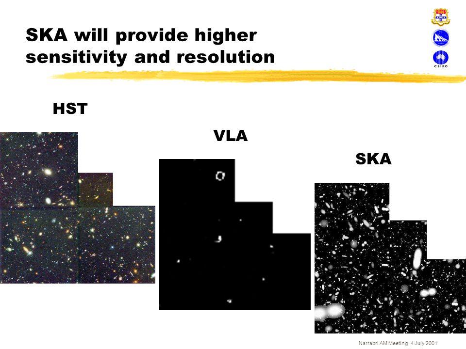 SKA will provide higher sensitivity and resolution