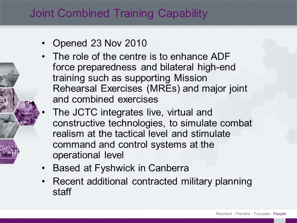 Joint Combined Training Capability