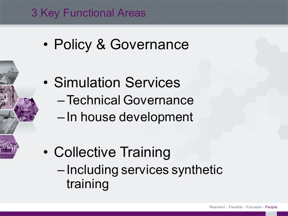 Policy & Governance Simulation Services Collective Training