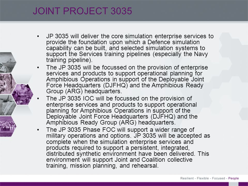 JOINT PROJECT 3035