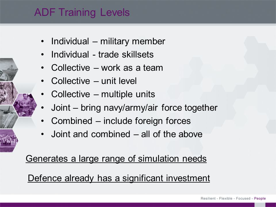 ADF Training Levels Individual – military member