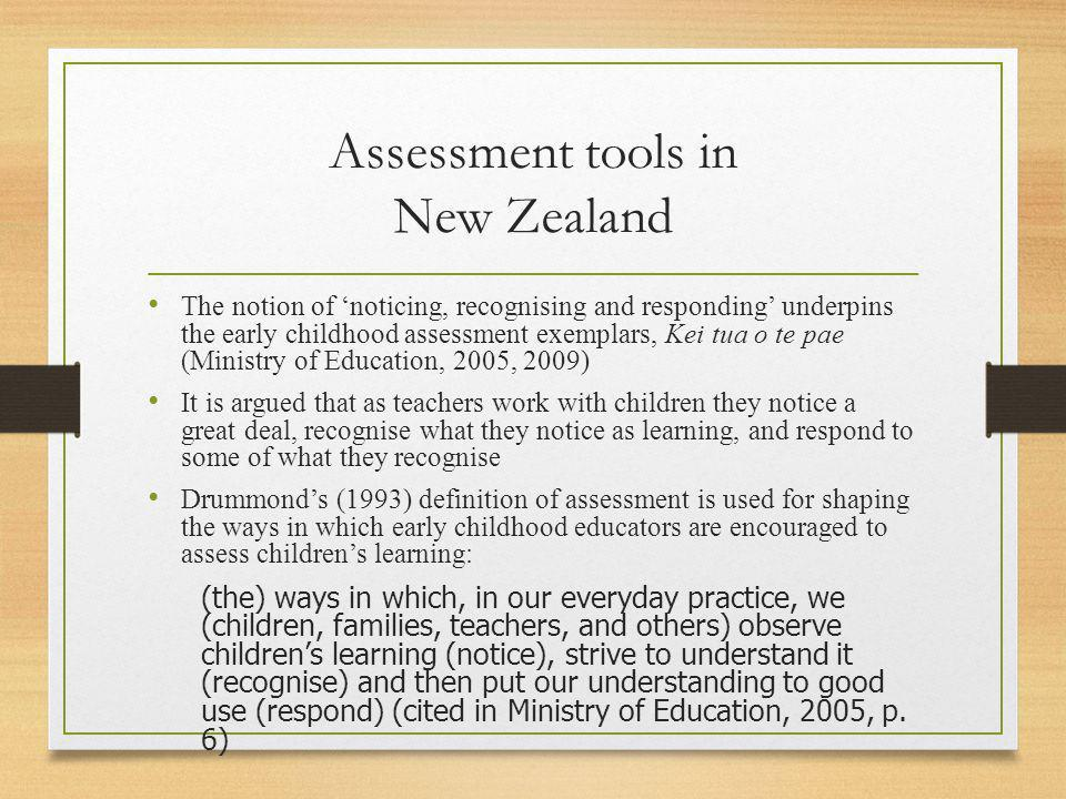 Assessment tools in New Zealand