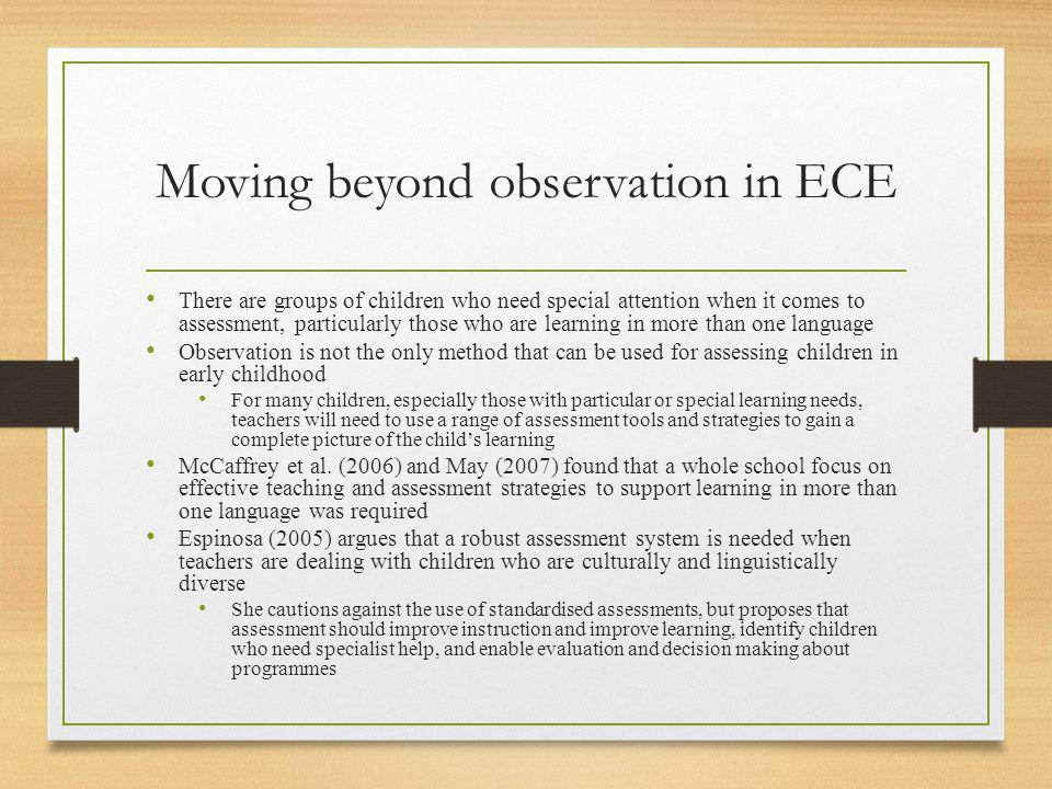 Moving beyond observation in ECE