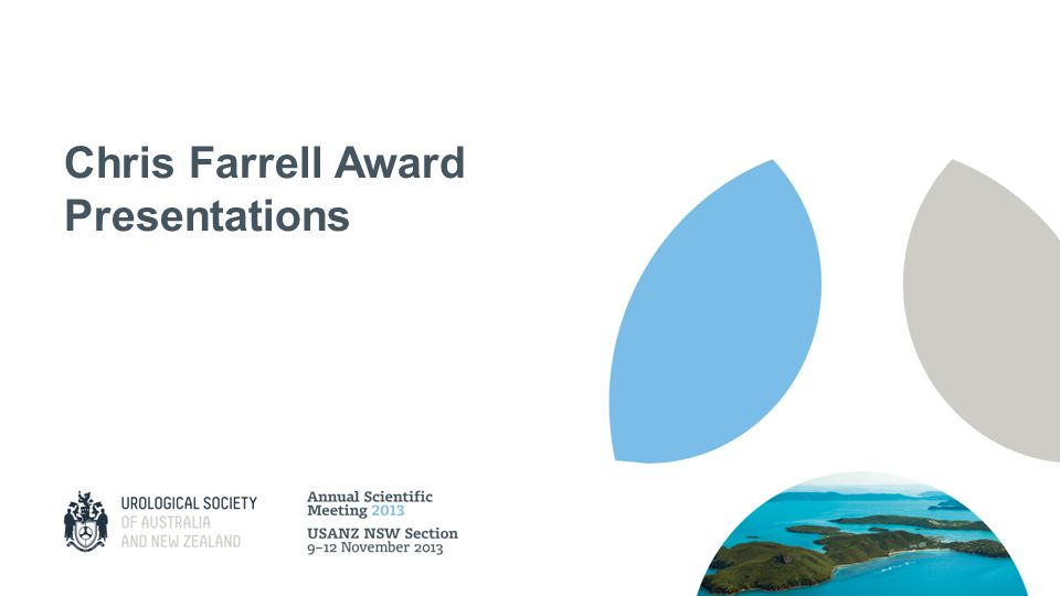 Chris Farrell Award Presentations