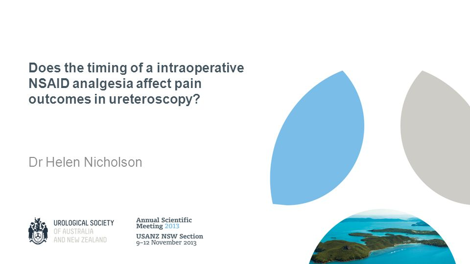 Does the timing of a intraoperative NSAID analgesia affect pain outcomes in ureteroscopy