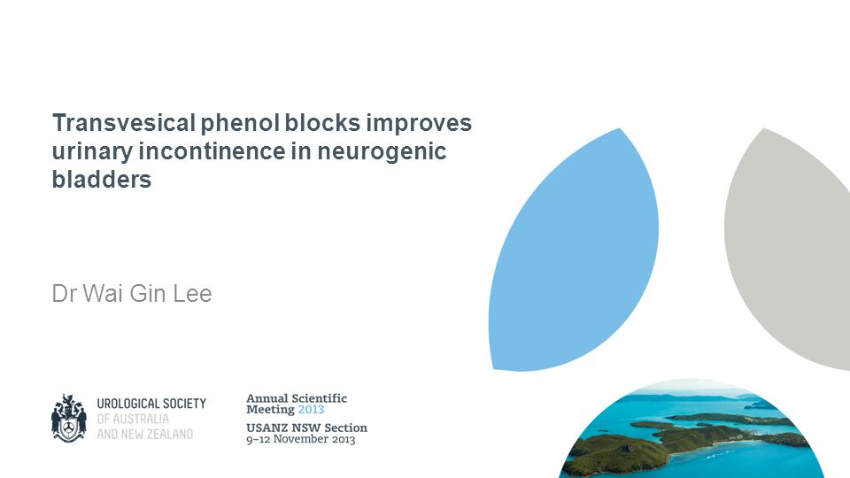 Transvesical phenol blocks improves urinary incontinence in neurogenic bladders