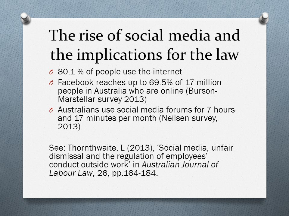 The rise of social media and the implications for the law