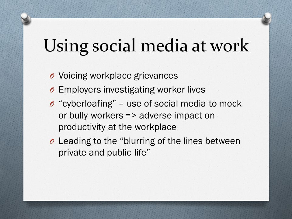 Using social media at work