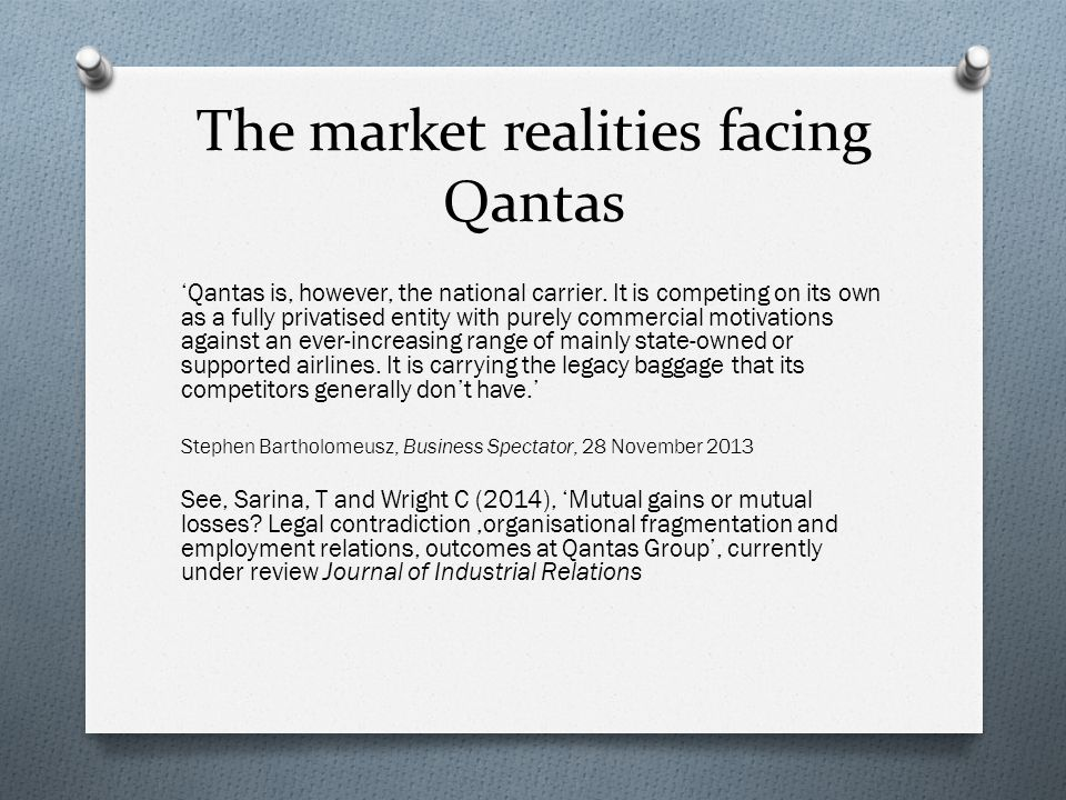 The market realities facing Qantas