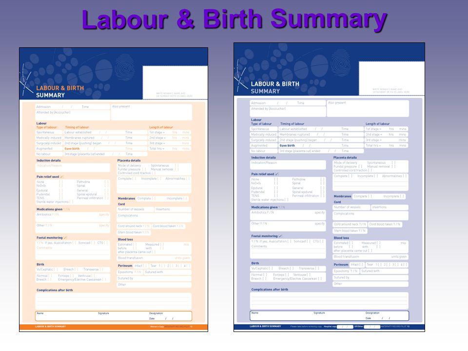 Labour & Birth Summary 6/04/2017.