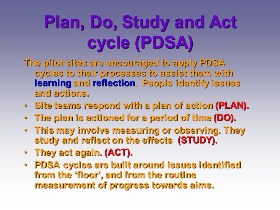 Plan, Do, Study and Act cycle (PDSA)