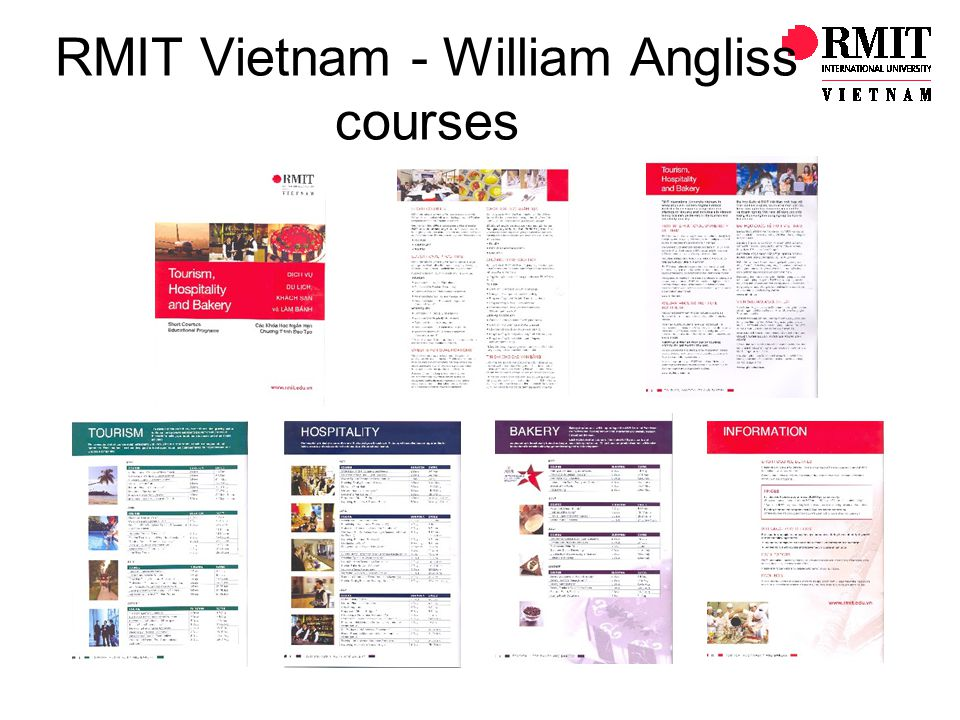 RMIT Vietnam - William Angliss courses