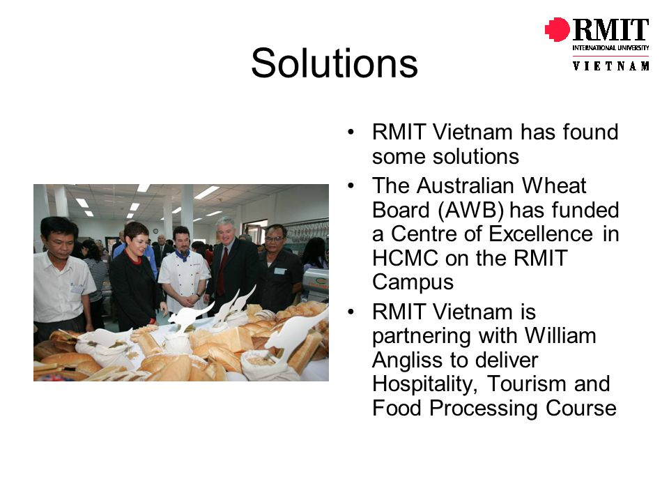 Solutions RMIT Vietnam has found some solutions