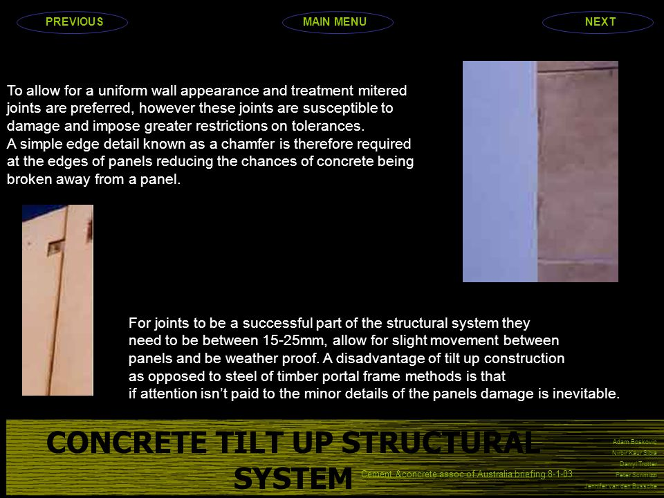 CONCRETE TILT UP STRUCTURAL SYSTEM