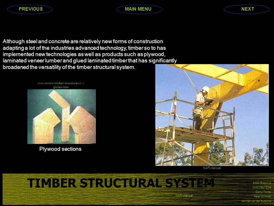 TIMBER STRUCTURAL SYSTEM