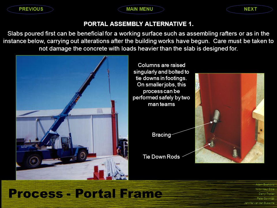 PORTAL ASSEMBLY ALTERNATIVE 1.