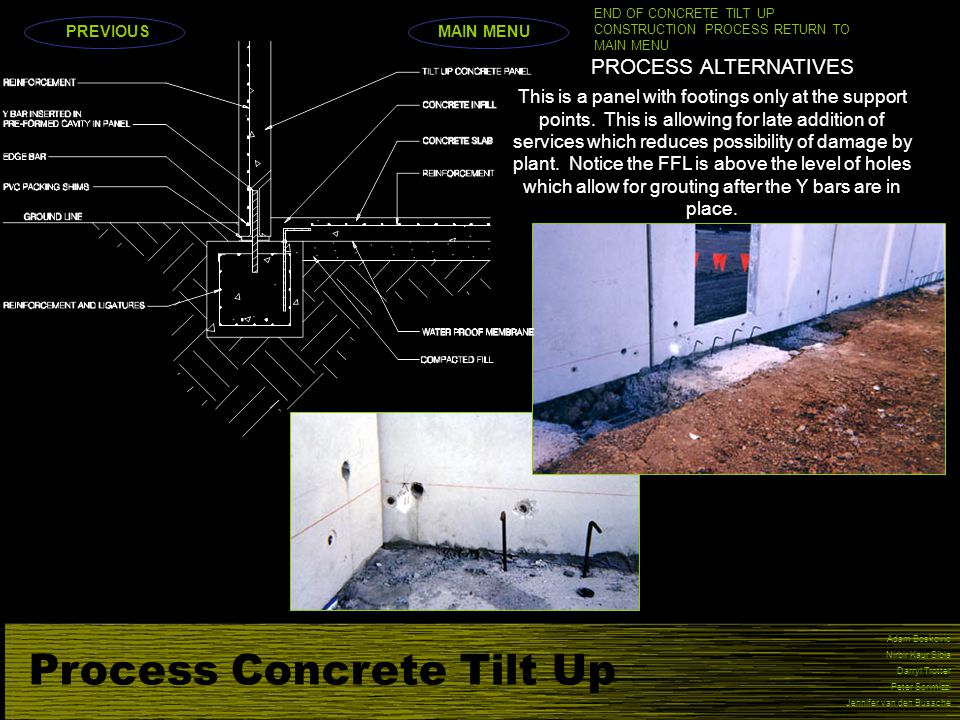 Process Concrete Tilt Up
