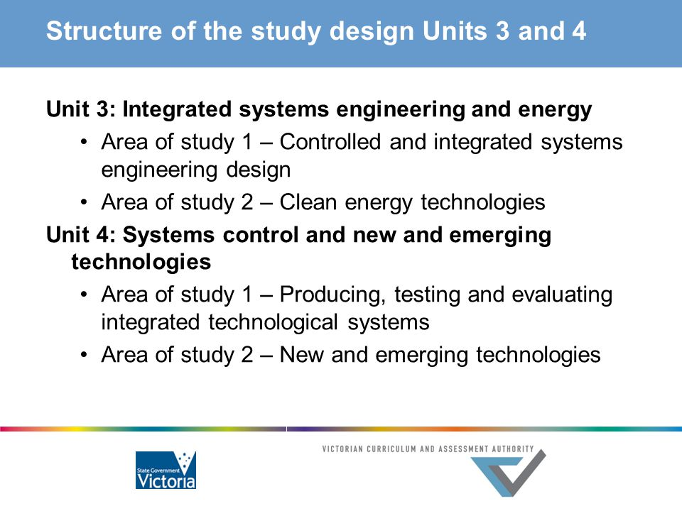 Structure of the study design Units 3 and 4