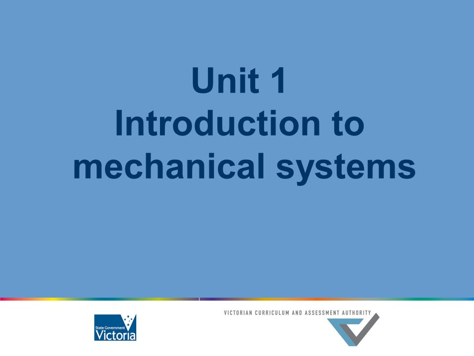 Introduction to mechanical systems