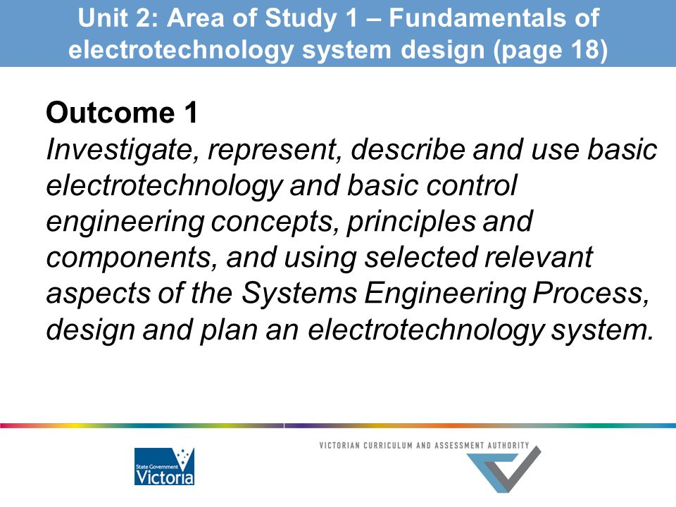 Unit 2: Area of Study 1 – Fundamentals of electrotechnology system design (page 18)