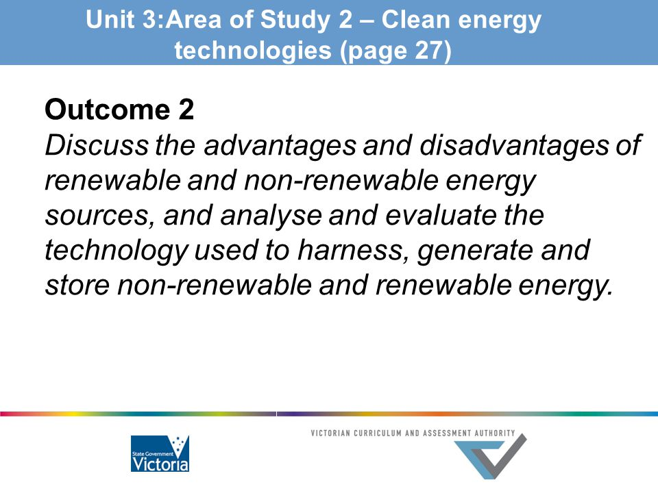 Unit 3:Area of Study 2 – Clean energy technologies (page 27)