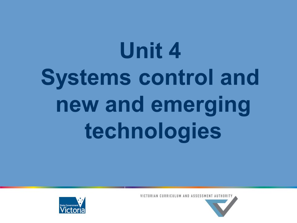 Systems control and new and emerging technologies