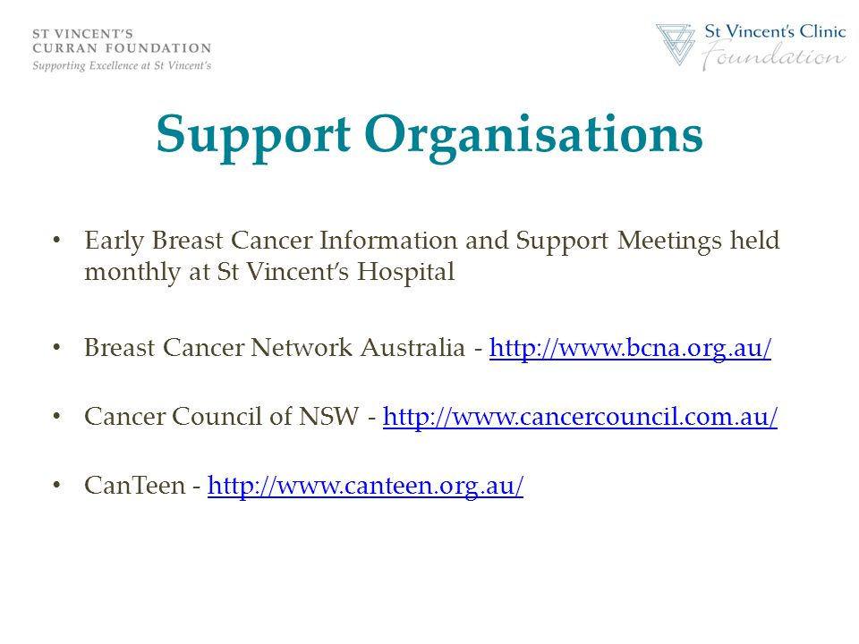 Support Organisations