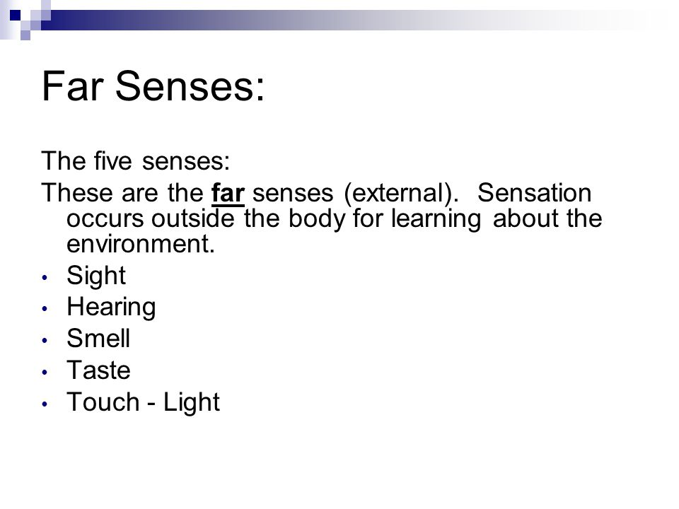 Far Senses: The five senses: