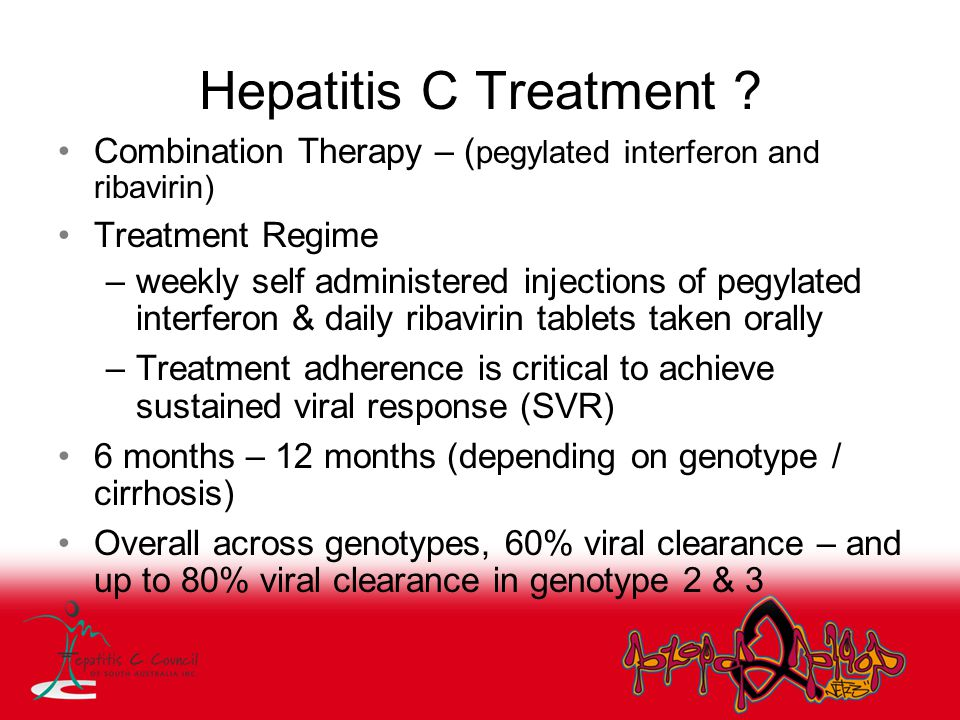 Hepatitis C Treatment Combination Therapy – (pegylated interferon and ribavirin) Treatment Regime.