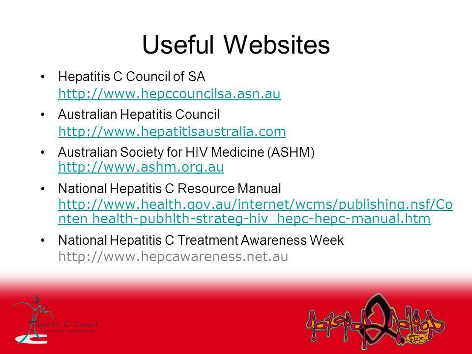 Useful Websites Hepatitis C Council of SA
