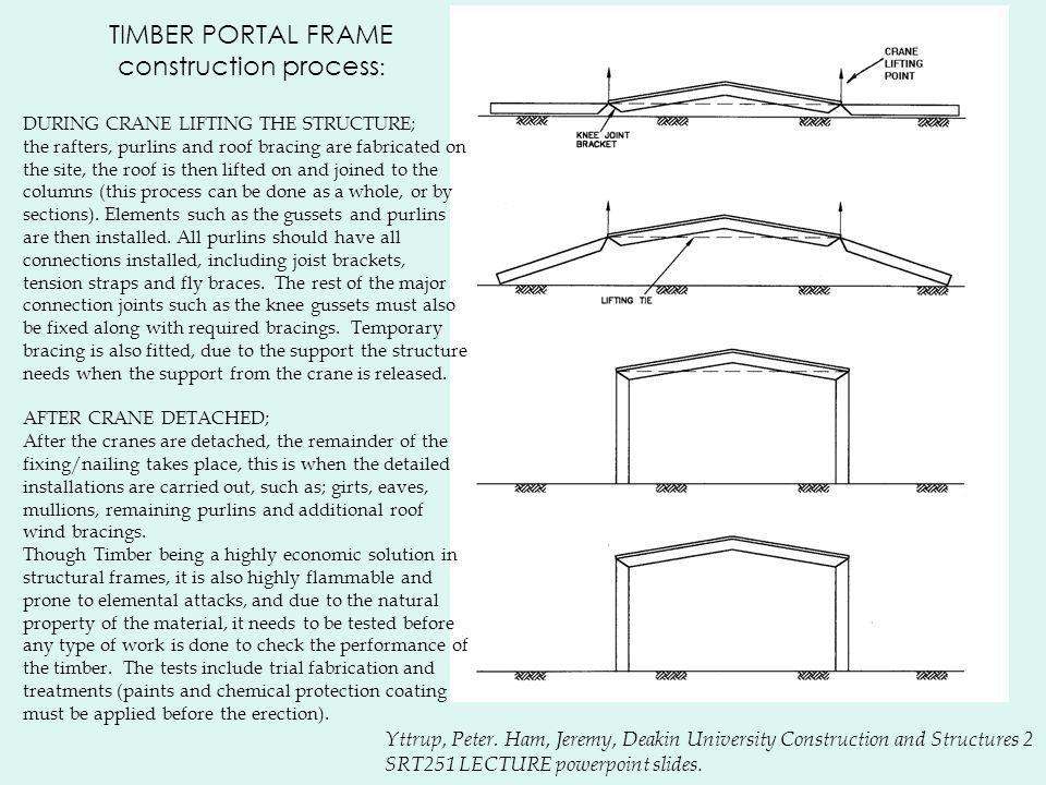 TIMBER PORTAL FRAME construction process: