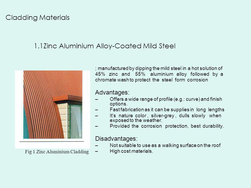 1.1Zinc Aluminium Alloy-Coated Mild Steel