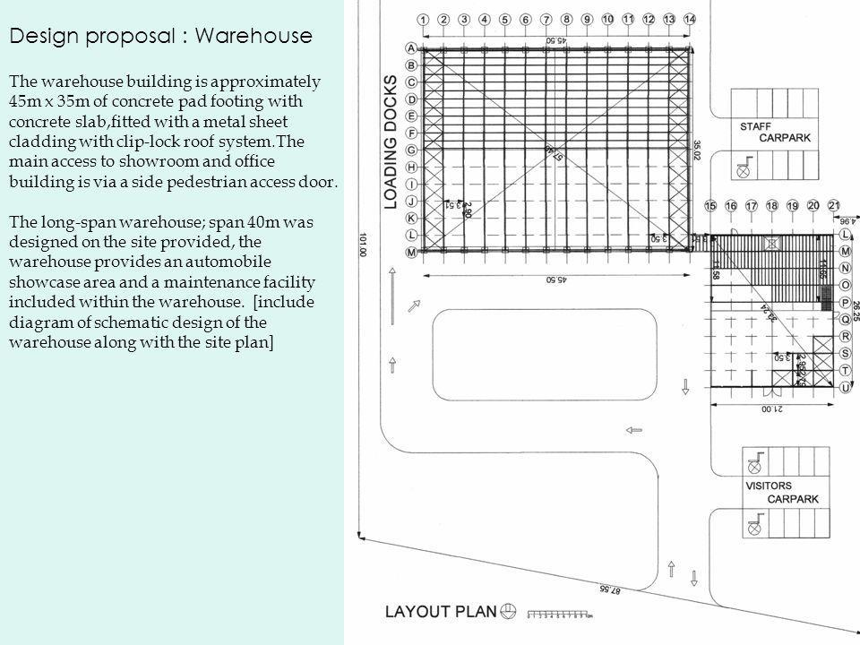 Design proposal : Warehouse