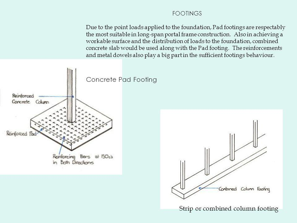 Strip or combined column footing