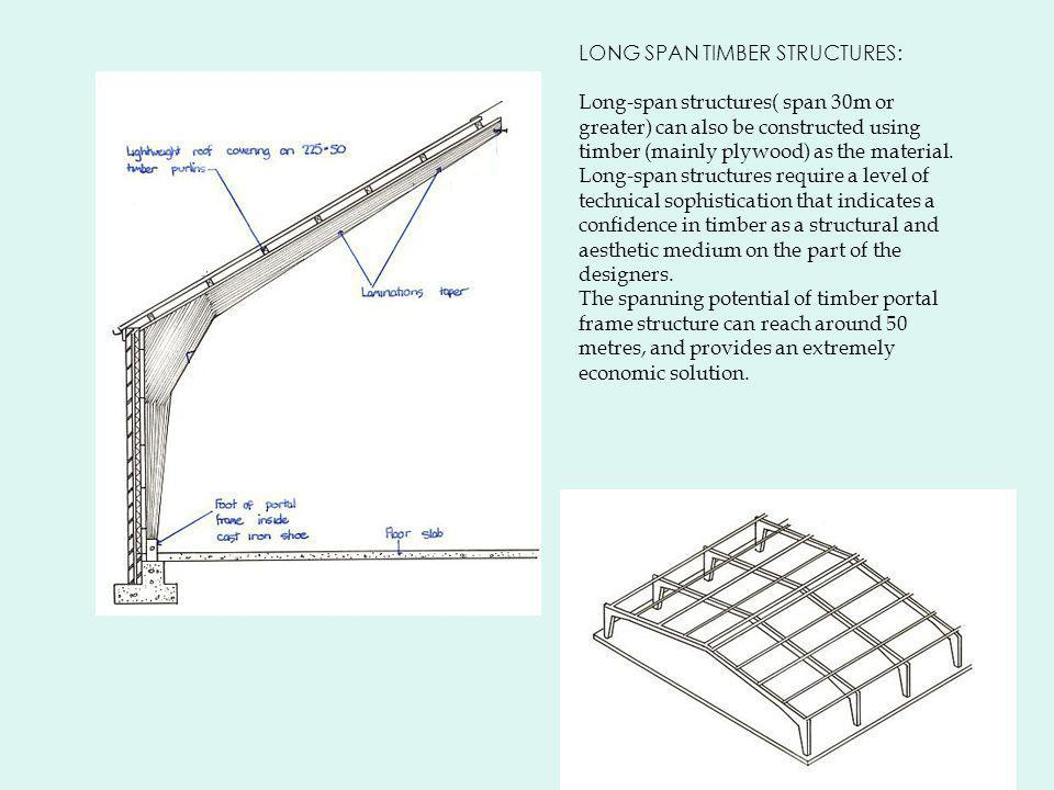 LONG SPAN TIMBER STRUCTURES: