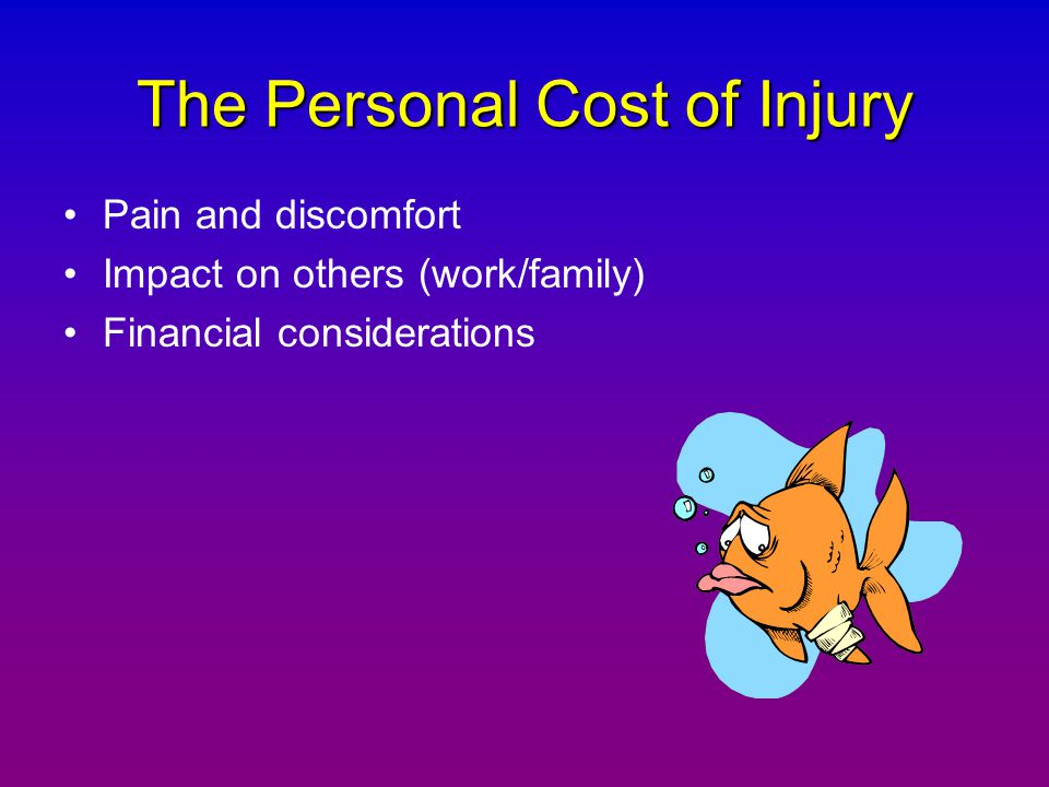 The Personal Cost of Injury