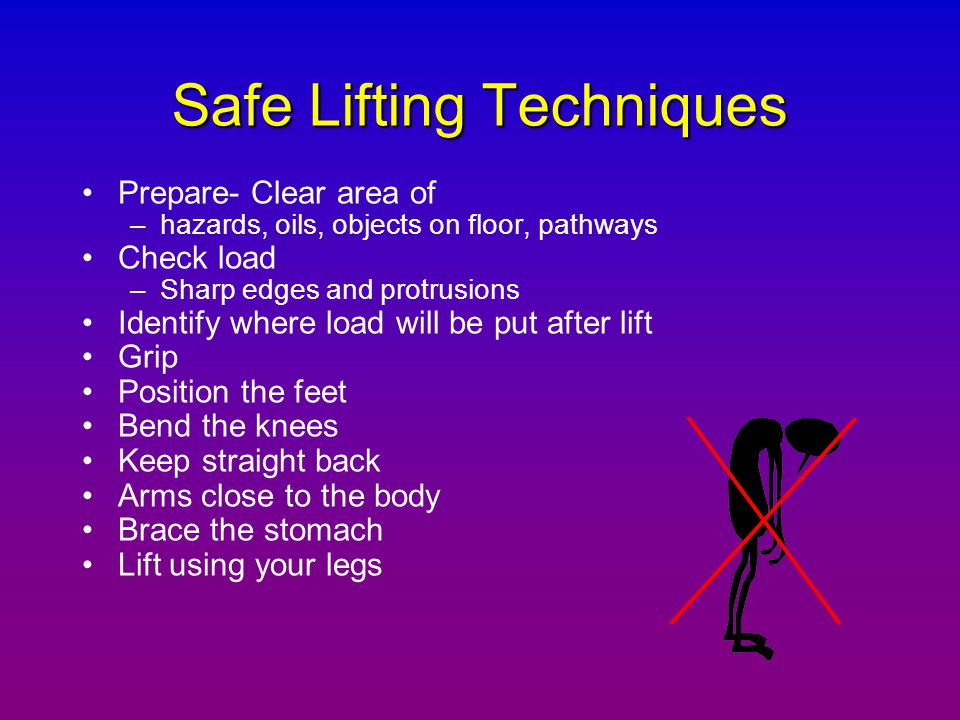 Safe Lifting Techniques